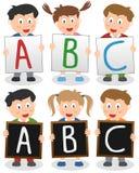 De Jonge geitjes van ABC Stock Afbeeldingen