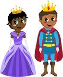 De Jonge geitjes van Black Isolated Kid van de prinsesprins vector illustratie
