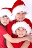 De jonge geitjes van de Kerstman Royalty-vrije Stock Fotografie