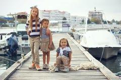 De jonge geitjes van de manier Royalty-vrije Stock Foto