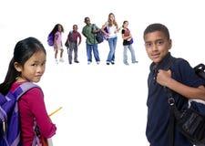 De Jonge geitjes van de school Stock Afbeelding