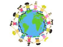 De jonge geitjes van de wereld stock illustratie