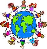 De jonge geitjes van de wereld vector illustratie
