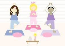 De Jonge geitjes van de yoga (iii) vector illustratie