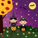 De jonge geitjes van Halloween Royalty-vrije Stock Afbeelding