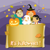 De Jonge geitjes van Halloween Stock Foto's