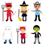 De jonge geitjes van Halloween stock illustratie