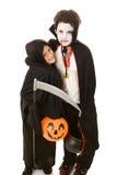 De Jonge geitjes van Halloween - Broers Stock Foto