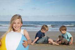 De jonge geitjes van het strand. Royalty-vrije Stock Foto