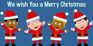 De Jonge geitjes van Kerstmis royalty-vrije illustratie