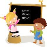 De jonge geitjes van Math Royalty-vrije Stock Afbeeldingen