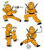 De jonge geitjes van Ninja   Stock Foto