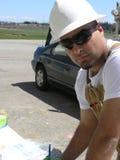 De jonge Ingenieur van het Gebied. Stock Foto