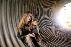 De jonge jager Stock Foto's