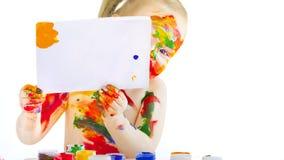 De jonge kunstenaar Royalty-vrije Stock Afbeeldingen