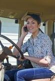 De jonge Landbouwer van de Vrouw Stock Afbeelding