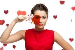 De jonge lolly van de vrouwenholding Stock Foto