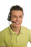 De jonge man van de steundienst Stock Afbeeldingen