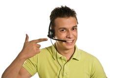 De jonge man van de steundienst Stock Fotografie