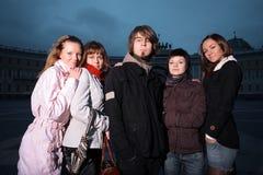 De jonge mensen van de groep royalty-vrije stock afbeelding