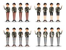 De jonge mensen vormen moderne vlakke avatar vector illustratie
