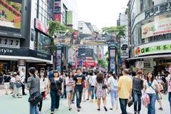 De jonge mensenplaats van Ximending Royalty-vrije Stock Afbeeldingen