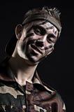 De jonge militair van Smiley royalty-vrije stock foto's
