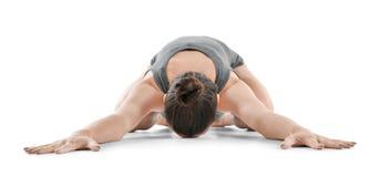 De jonge mooie vrouw die yoga doen stelt Royalty-vrije Stock Afbeelding