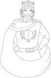 De jonge Pagina van Koningswith crown coloring Stock Foto's