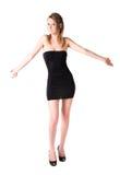 De jonge sexy vrouw haalt haar schouders op Stock Foto