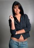 De jonge Sexy Vrouw kijkt Royalty-vrije Stock Foto's