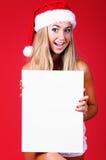 De jonge sexy vrouw van de Kerstman Stock Foto