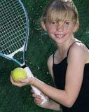 De jonge Speler van het Tennis Stock Afbeelding