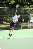De jonge Speler van het Tennis Stock Afbeeldingen