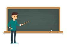 De jonge student bevindt zich dichtbij de opleidende raad vector illustratie