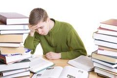 De jonge student met boeken Royalty-vrije Stock Foto