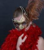 De jonge vrouw in een kostuum Royalty-vrije Stock Fotografie