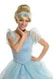 De jonge Vrouw kleedde zich in Prinses Costume Stock Foto's
