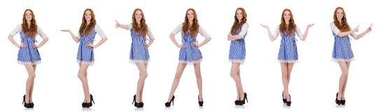 De jonge vrouw in manierconcept Royalty-vrije Stock Foto's