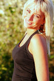 De jonge vrouw van de blonde Stock Foto