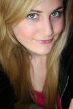 De Jonge Vrouw van de blonde Stock Afbeelding