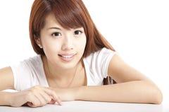 De jonge vrouw van de schoonheid Stock Afbeelding