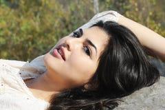 De jonge Vrouw van Latina Stock Foto