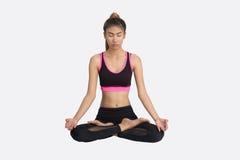 De jonge Vrouw in Yoga stelt royalty-vrije stock fotografie