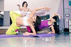 De meisjes van de aerobics Stock Foto's