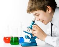 De jonge wetenschapper Royalty-vrije Stock Foto
