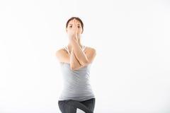 De jonge yoga van de vrouwenoefening Stock Fotografie