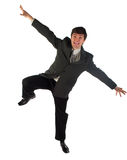 De jonge zakenlieden vliegen Royalty-vrije Stock Afbeeldingen