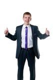 De jonge zakenman in een kostuum Royalty-vrije Stock Afbeelding
