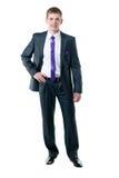 De jonge zakenman in een kostuum Royalty-vrije Stock Foto